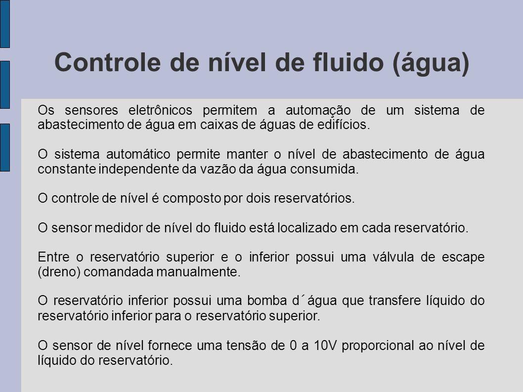 Controle de nível de fluido (água) Os sensores eletrônicos permitem a automação de um sistema de abastecimento de água em caixas de águas de edifícios