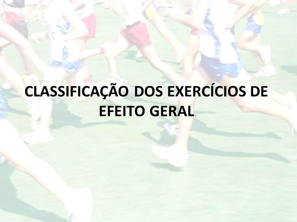CLASSIFICAÇÃO DOS EXERCÍCIOS DE EFEITO GERAL