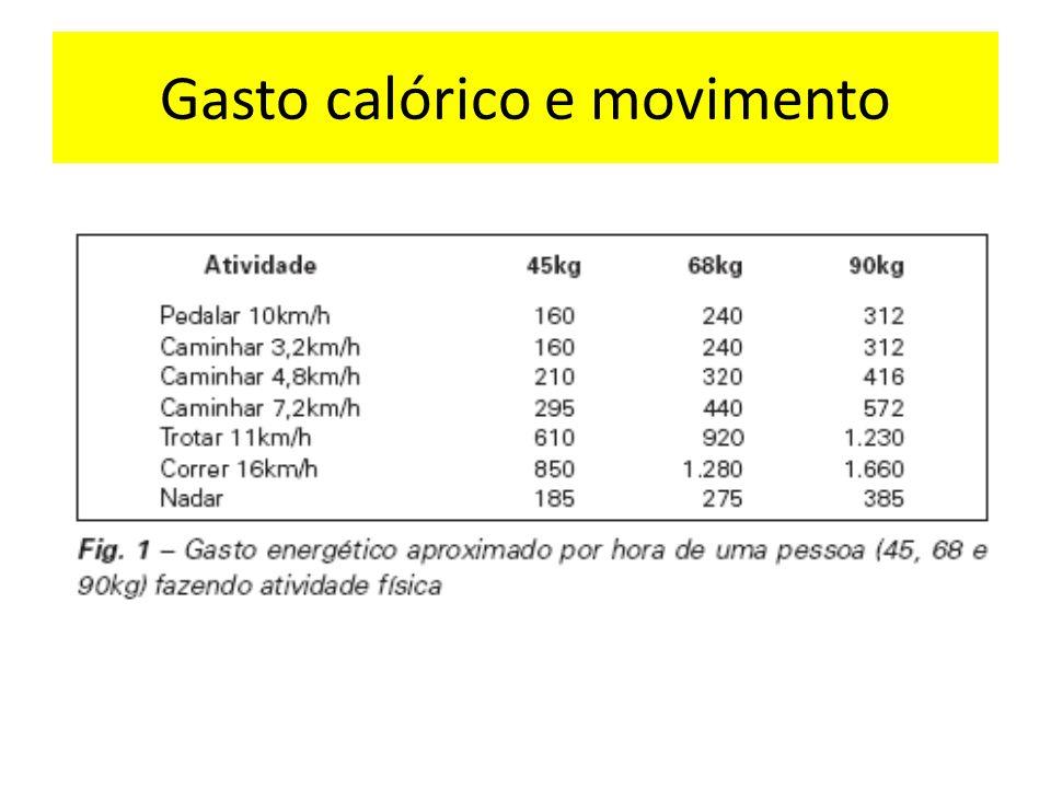 Gasto calórico e movimento