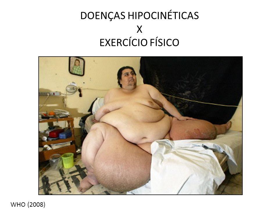 DOENÇAS HIPOCINÉTICAS X EXERCÍCIO FÍSICO WHO (2008)