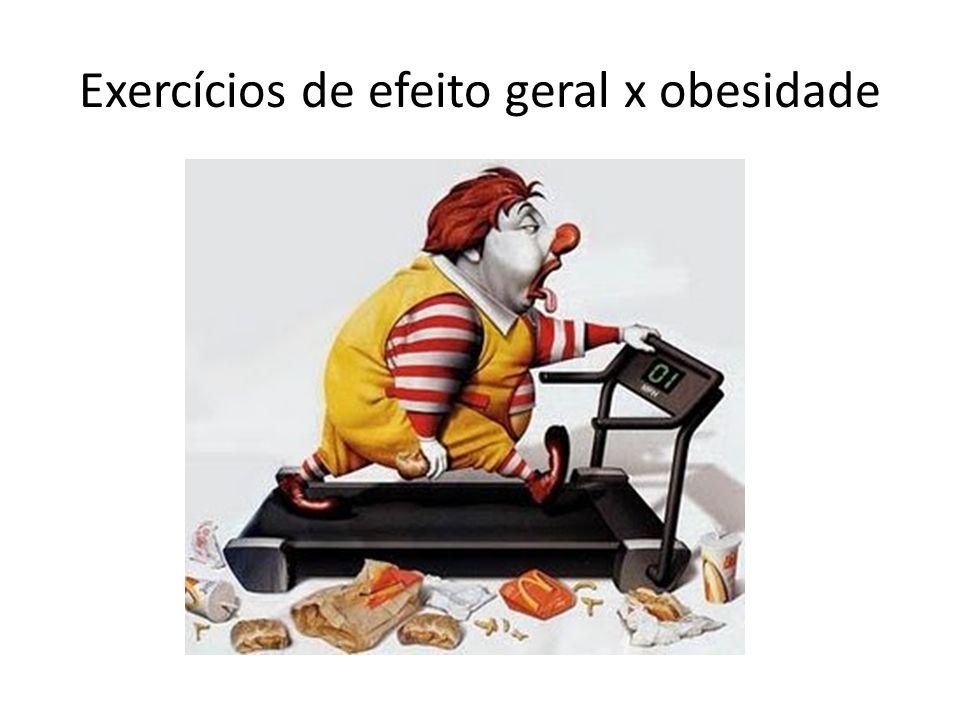 Exercícios de efeito geral x obesidade