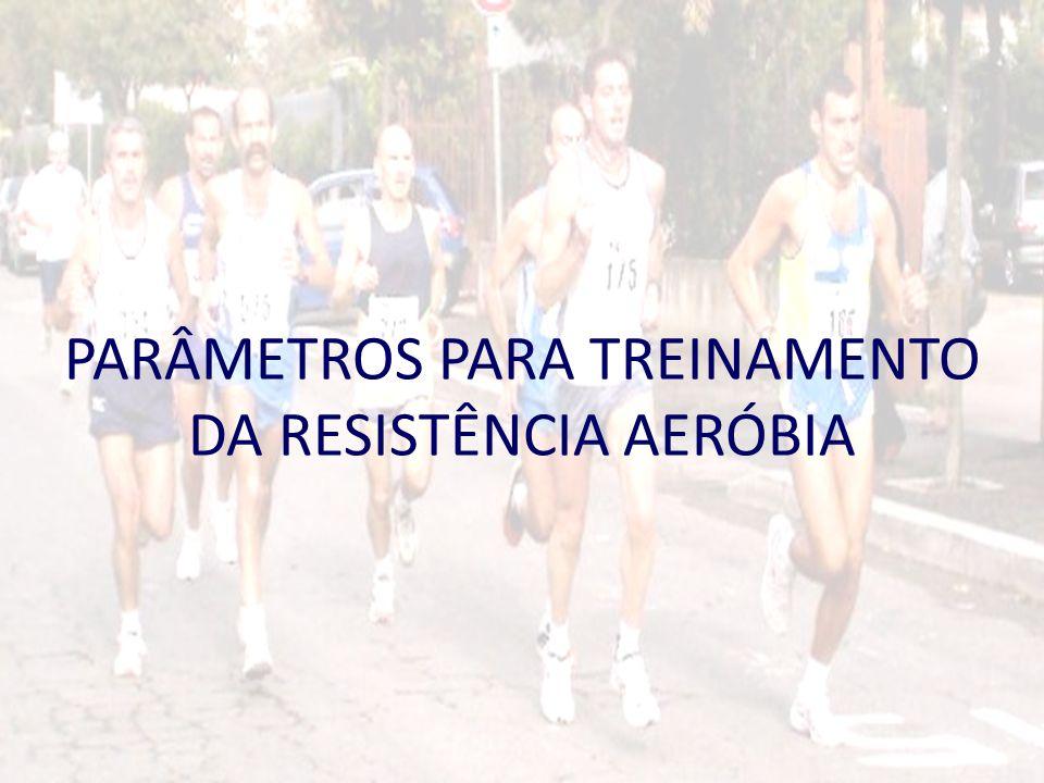 PARÂMETROS PARA TREINAMENTO DA RESISTÊNCIA AERÓBIA
