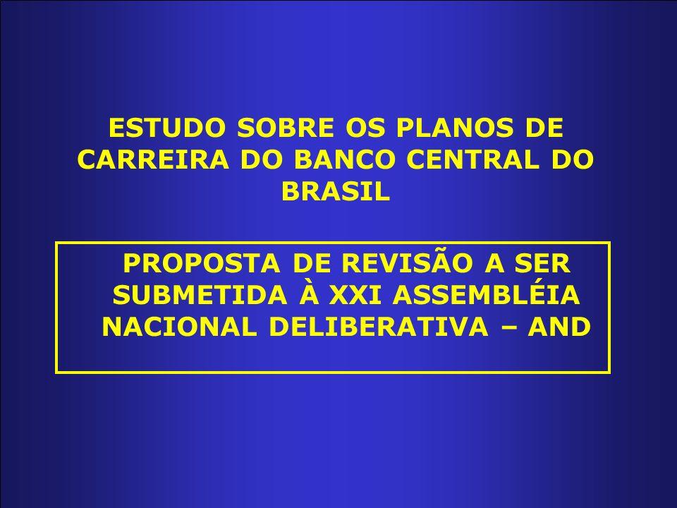 ESTUDO SOBRE OS PLANOS DE CARREIRA DO BANCO CENTRAL DO BRASIL PROPOSTA DE REVISÃO A SER SUBMETIDA À XXI ASSEMBLÉIA NACIONAL DELIBERATIVA – AND