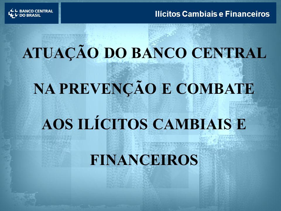 Lavagem de dinheiro Ilícitos Cambiais e Financeiros ATUAÇÃO DO BANCO CENTRAL NA PREVENÇÃO E COMBATE AOS ILÍCITOS CAMBIAIS E FINANCEIROS
