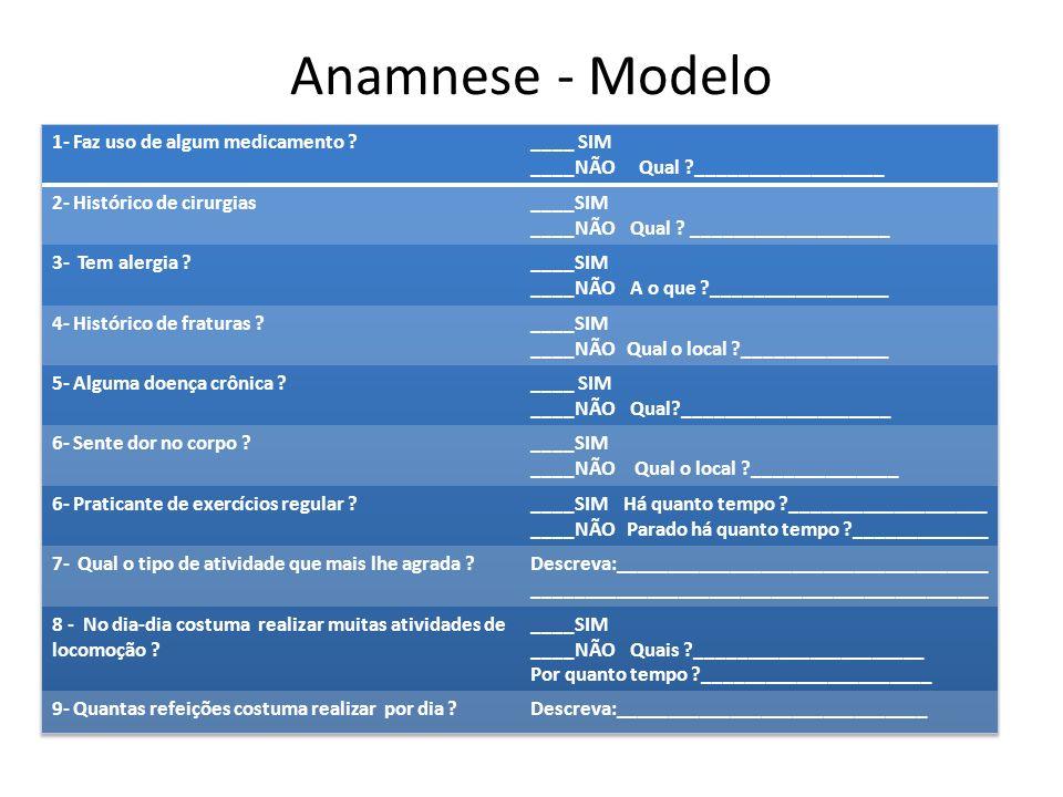 Anamnese - Modelo