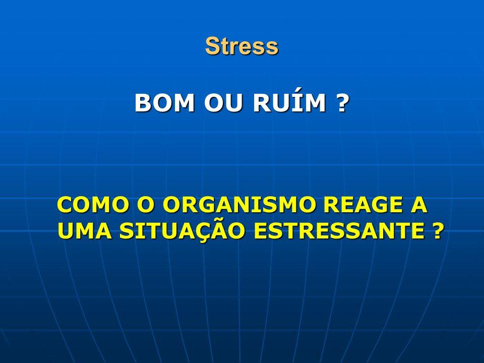 Stress BOM OU RUÍM ? COMO O ORGANISMO REAGE A UMA SITUAÇÃO ESTRESSANTE ?