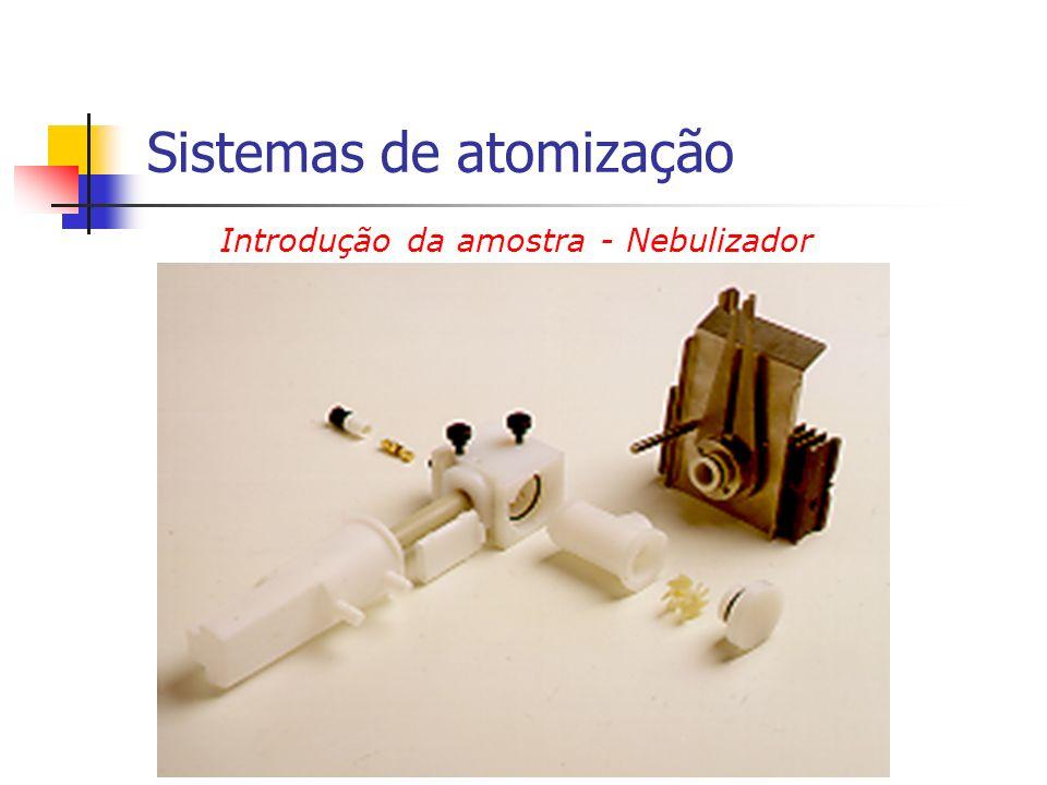 Introdução da amostra - Nebulizador