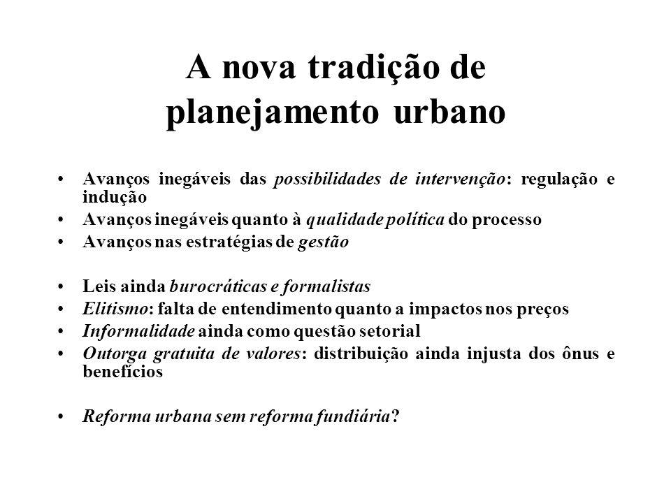 O papel da ordem jurídica Novas possibilidades de ação, novos cenários, novas arenas O desafio: ocupar esses espaços Merecer o Estatuto da Cidade.