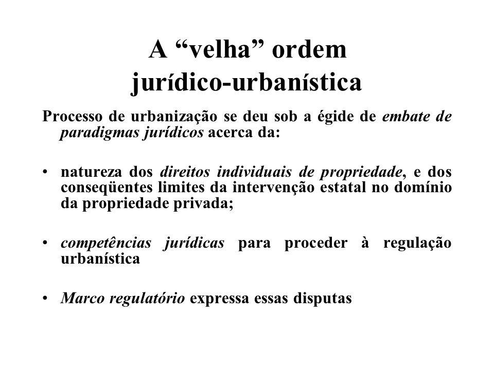 A questão da propriedade privada Entre o civilismo (Direito Civil) e o urbanismo (Direito Administrativo) Disputas, indefinições, imprecisões, contradições, lacunas, ambigüidades...