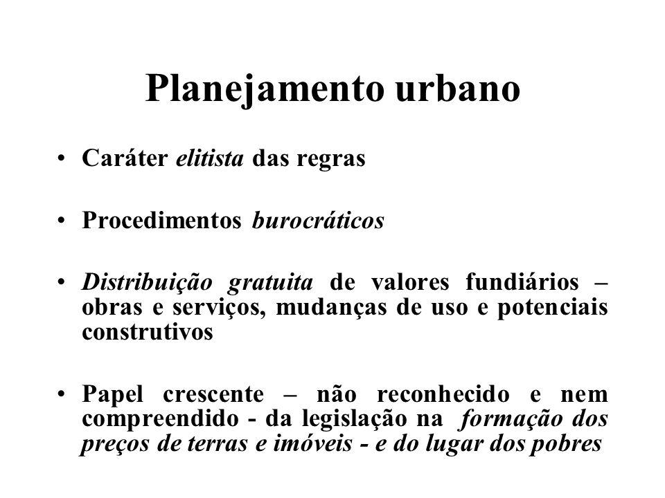 Os problemas da gestão urbana Indefinição acerca da competência municipal Quadro maior do centralismo político-fiscal A tradição de gestão tecnocrática Os embates da gestão metropolitana Falta de preocupação com financiamento do desenvolvimento urbano