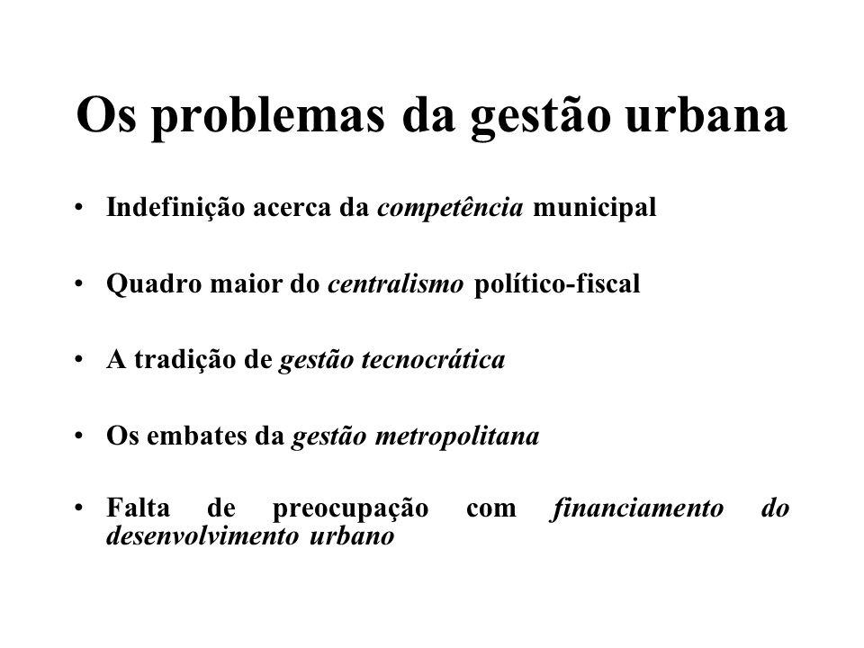 A lei e a ilegalidade Papel central da lei na determinação do processo de crescimento urbano informal Legislação fundiária, civil, registral, urbanística, ambiental, processual, tributária...