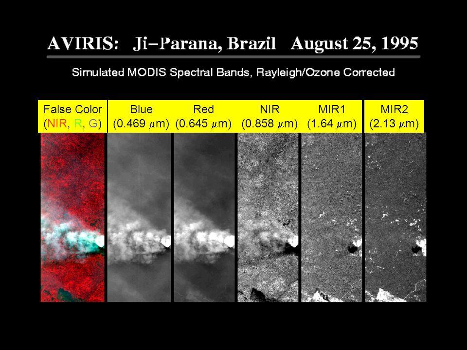 False Color (NIR, R, G) Blue (0.469 m) Red (0.645 m) NIR (0.858 m) MIR1 (1.64 m) MIR2 (2.13 m)