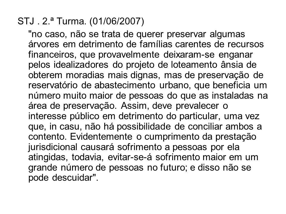 STJ. 2.ª Turma. (01/06/2007)