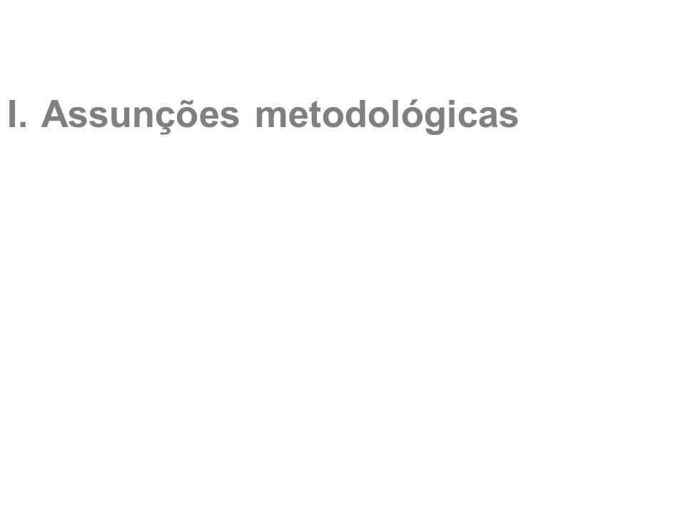 I.Assunções metodológicas