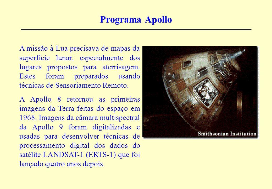 Programa Apollo A missão à Lua precisava de mapas da superfície lunar, especialmente dos lugares propostos para aterrisagem. Estes foram preparados us