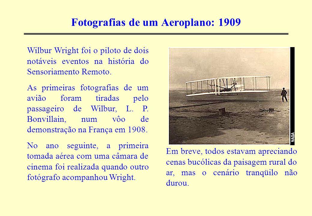 A Grande Guerra: 1914-1918 O biplano substituiu o balão na observação das linhas inimigas na luta de trincheiras da 1 a guerra mundial.