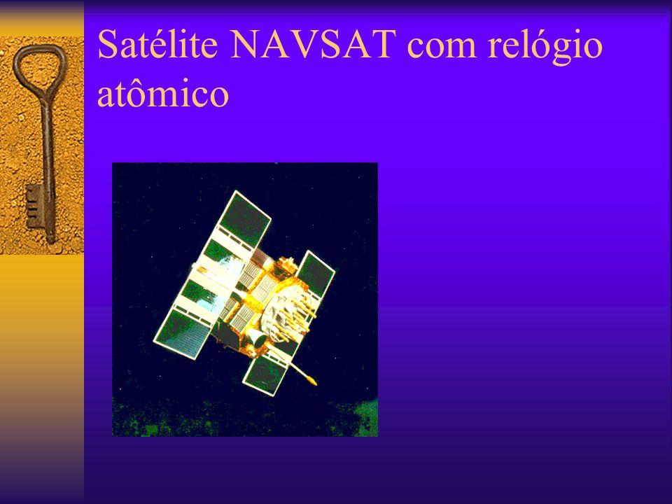 Satélite NAVSAT com relógio atômico