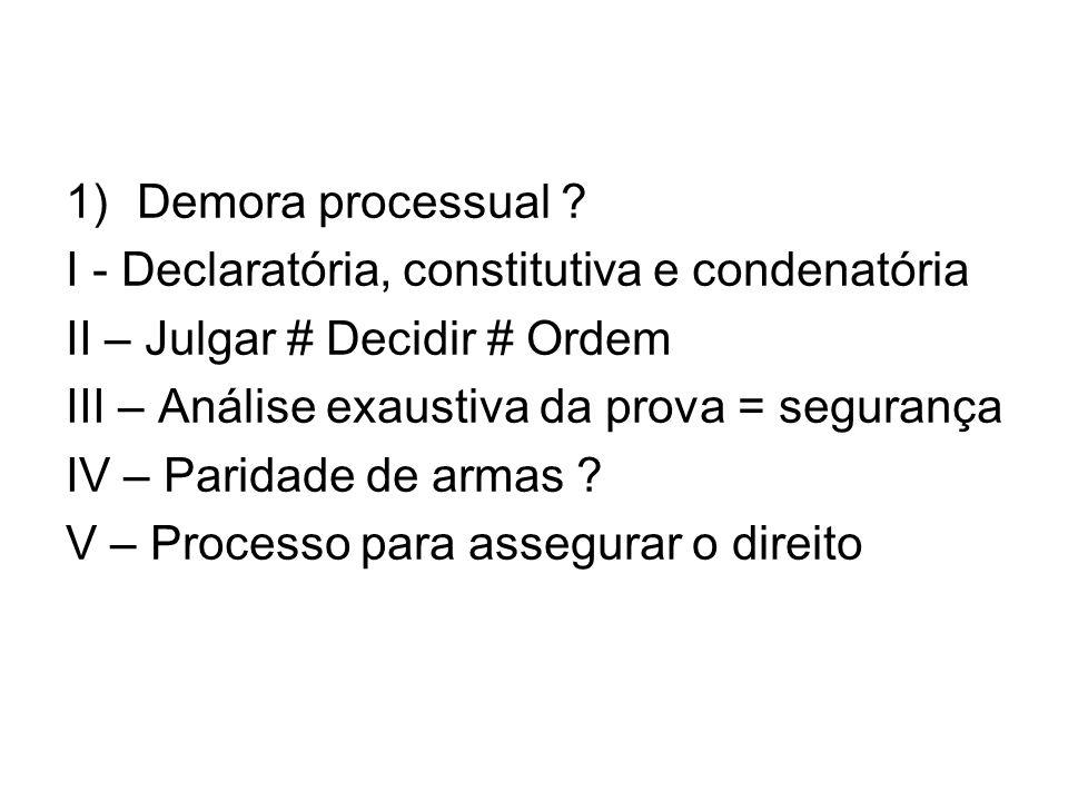 1)Demora processual .