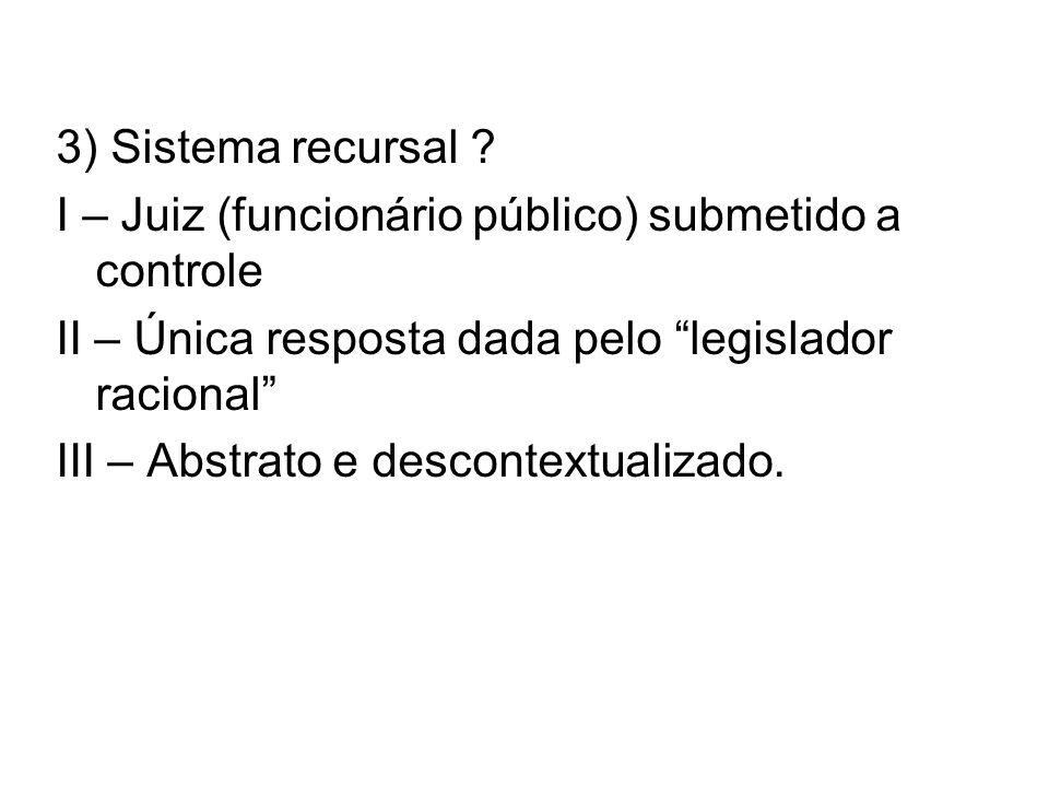 3) Sistema recursal .
