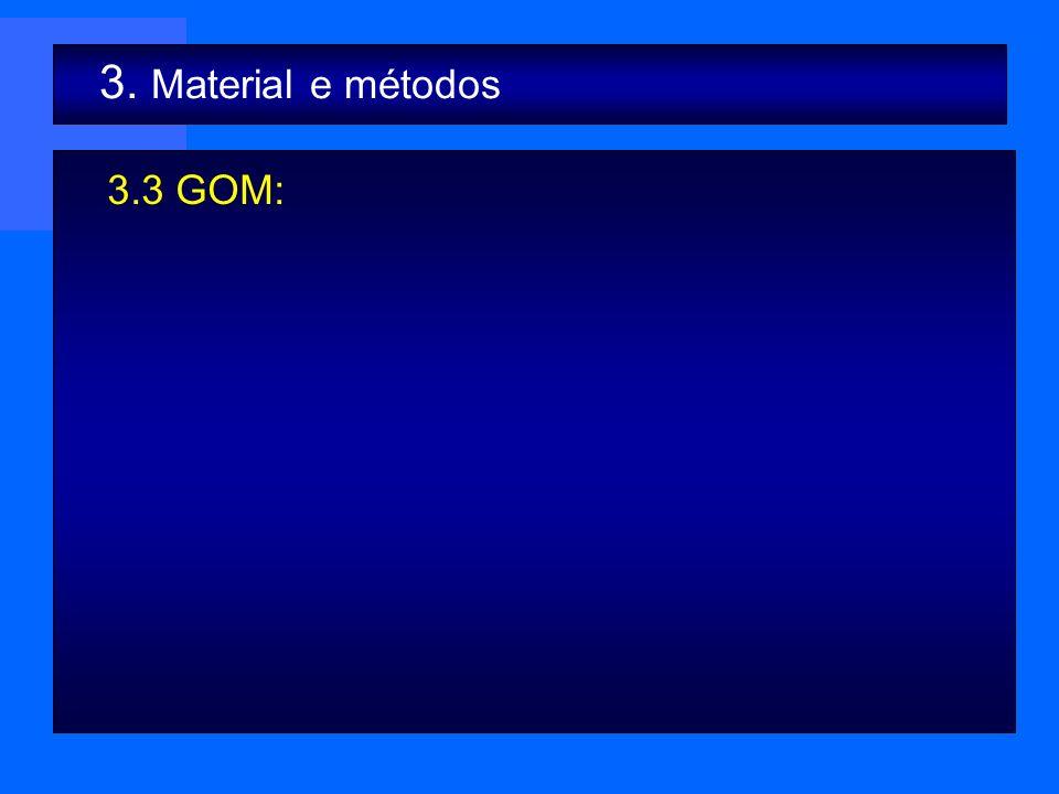 3.3 GOM: 3. Material e métodos