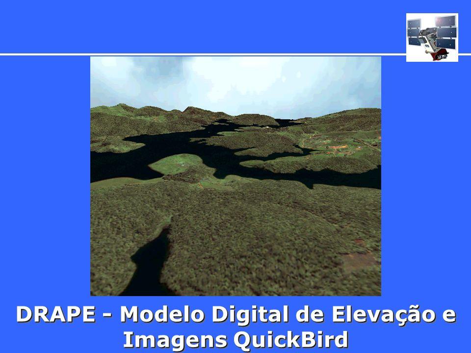 DRAPE - Modelo Digital de Elevação e Imagens QuickBird