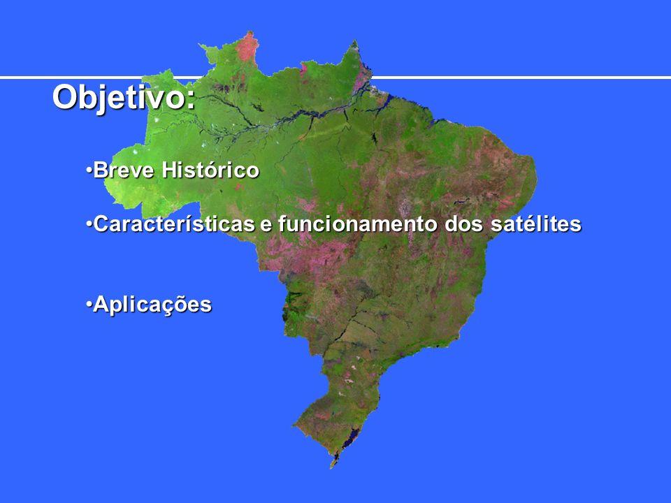 Objetivo: Breve HistóricoBreve Histórico Características e funcionamento dos satélitesCaracterísticas e funcionamento dos satélites AplicaçõesAplicações