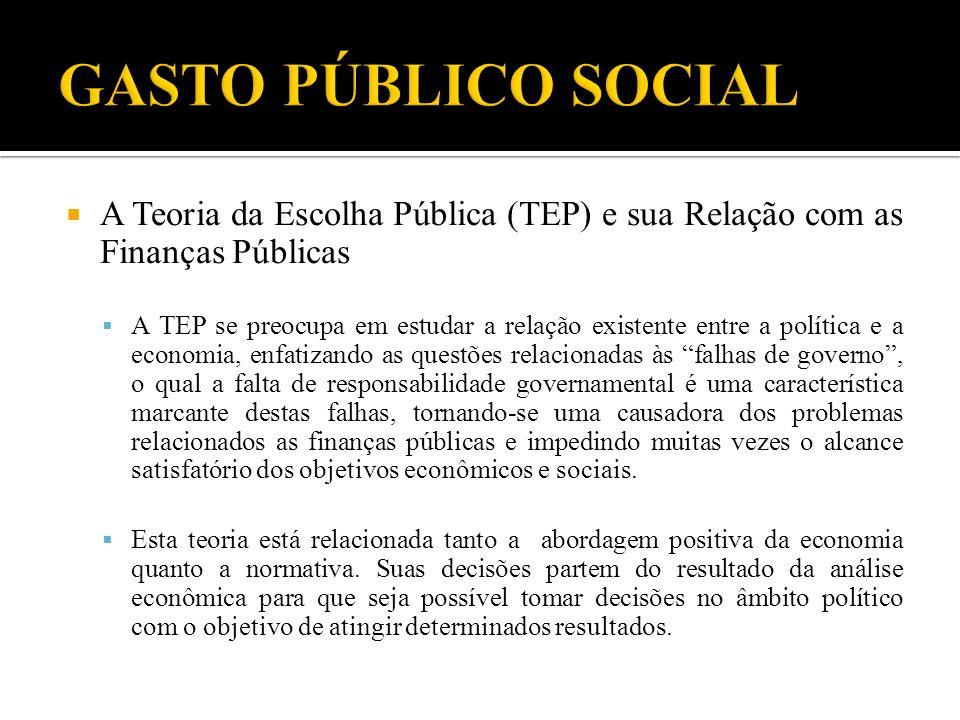 A Teoria da Escolha Pública (TEP) e sua Relação com as Finanças Públicas A TEP se preocupa em estudar a relação existente entre a política e a economi
