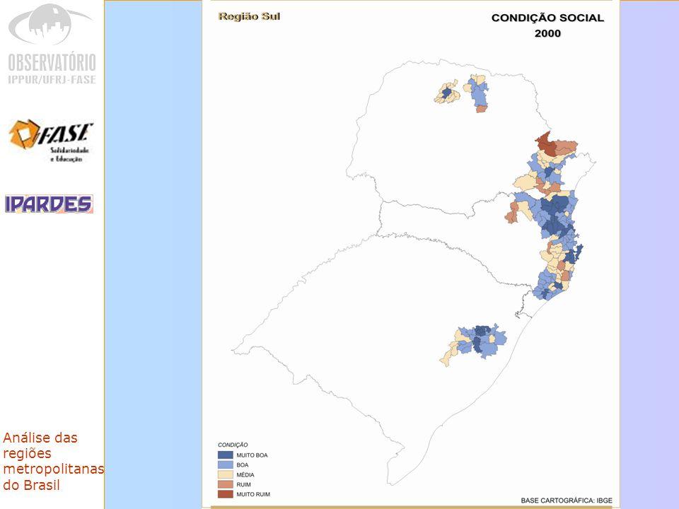 Análise das regiões metropolitanas do Brasil