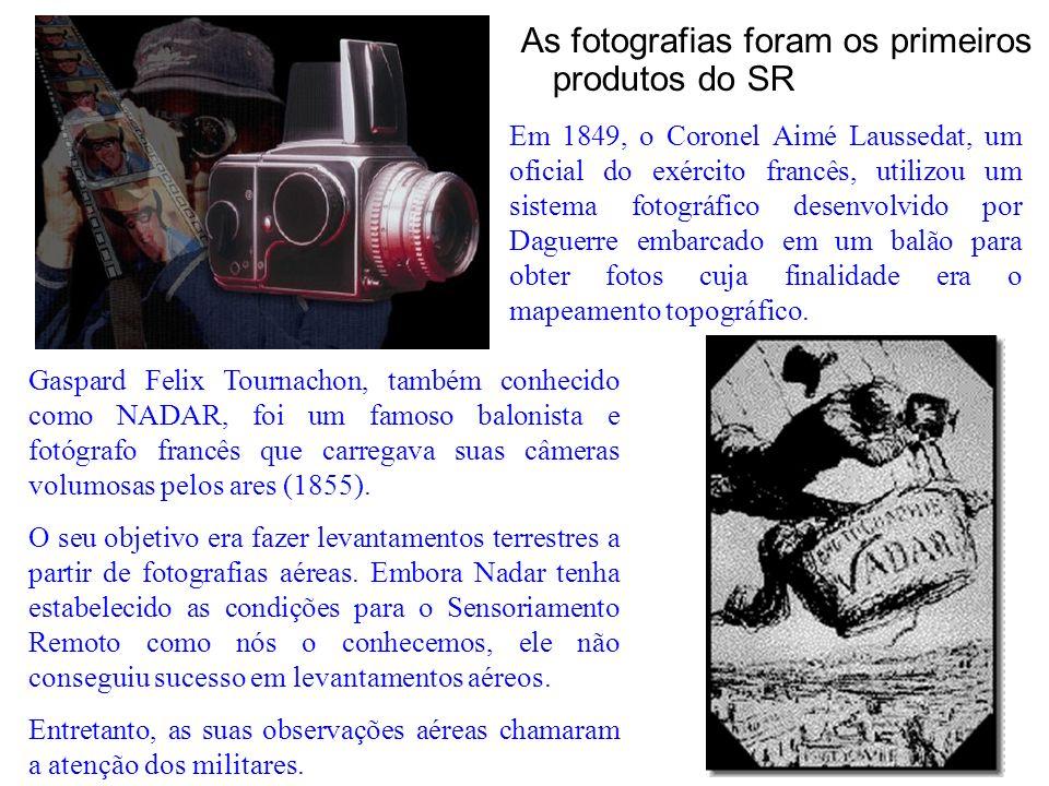 As fotografias foram os primeiros produtos do SR Gaspard Felix Tournachon, também conhecido como NADAR, foi um famoso balonista e fotógrafo francês qu