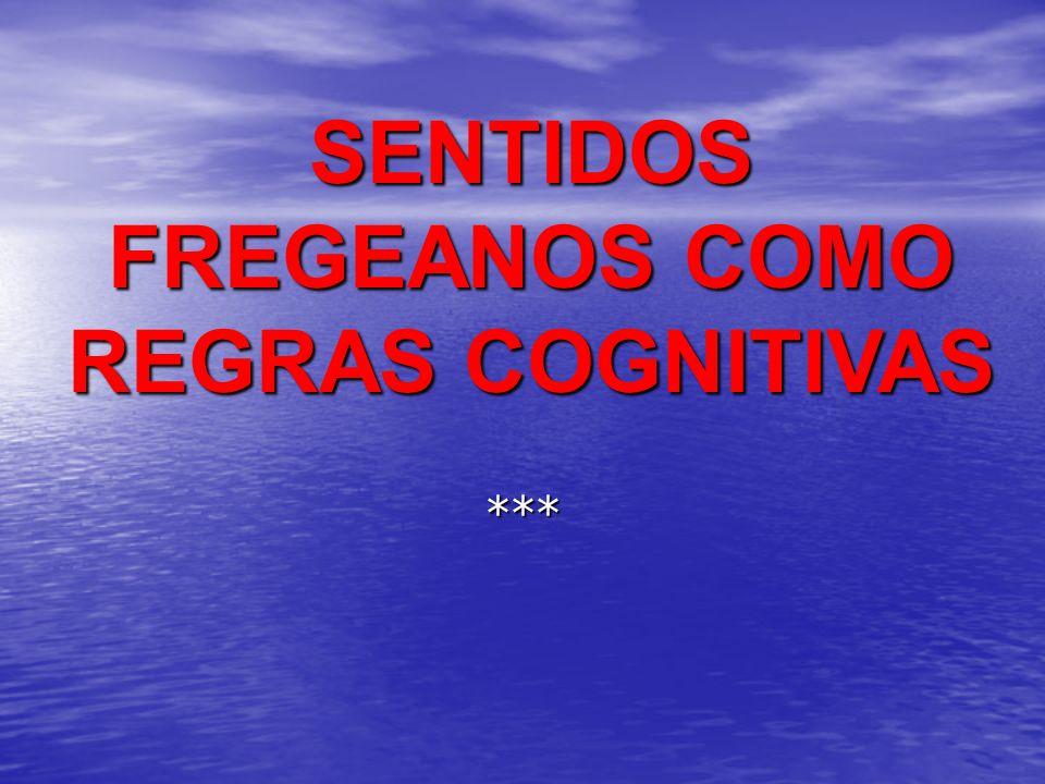 Para Frege o SENTIDO (Sinn) determina a REFERÊNCIA (Bedeutung).