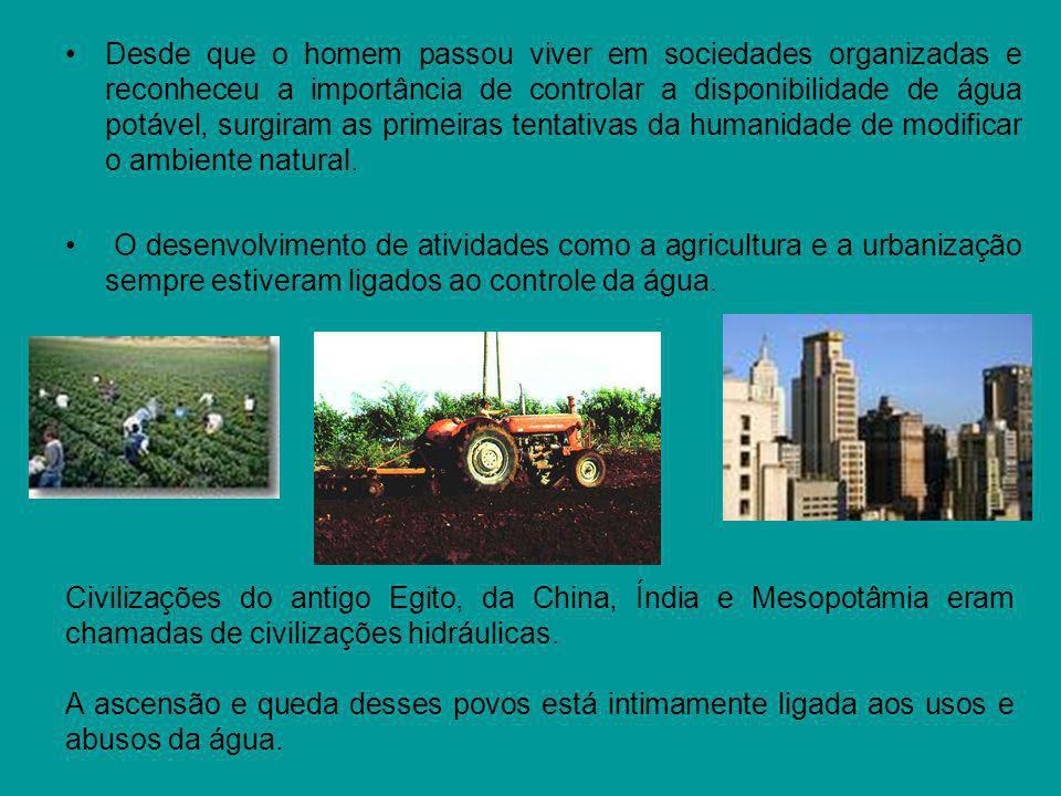 Falta de Gestão Má utilização Uma das atividades que mais desperdiça água é a irrigação por canais ou por aspersão, em decorrência de métodos ultrapassados e ineficientes.