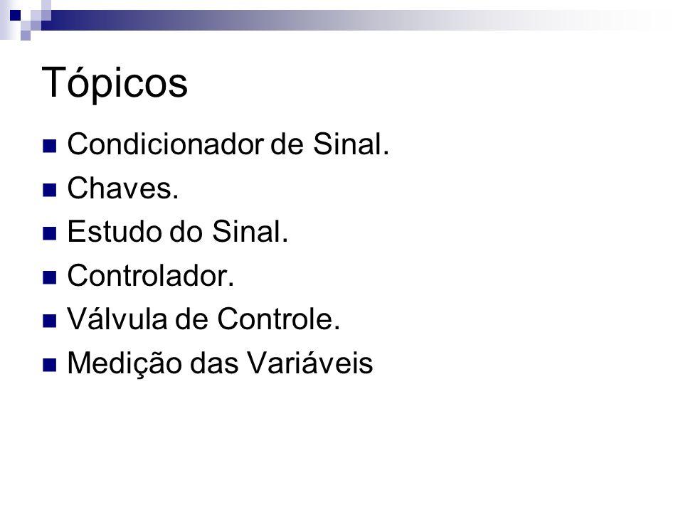 Tópicos Condicionador de Sinal. Chaves. Estudo do Sinal. Controlador. Válvula de Controle. Medição das Variáveis