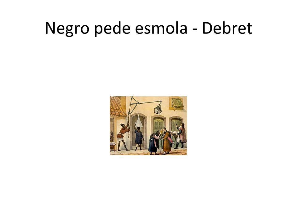 Negro pede esmola - Debret