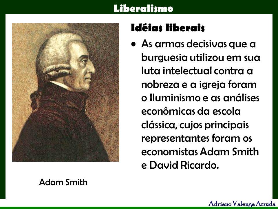 Liberalismo Adriano Valenga Arruda Idéias liberais As armas decisivas que a burguesia utilizou em sua luta intelectual contra a nobreza e a igreja for