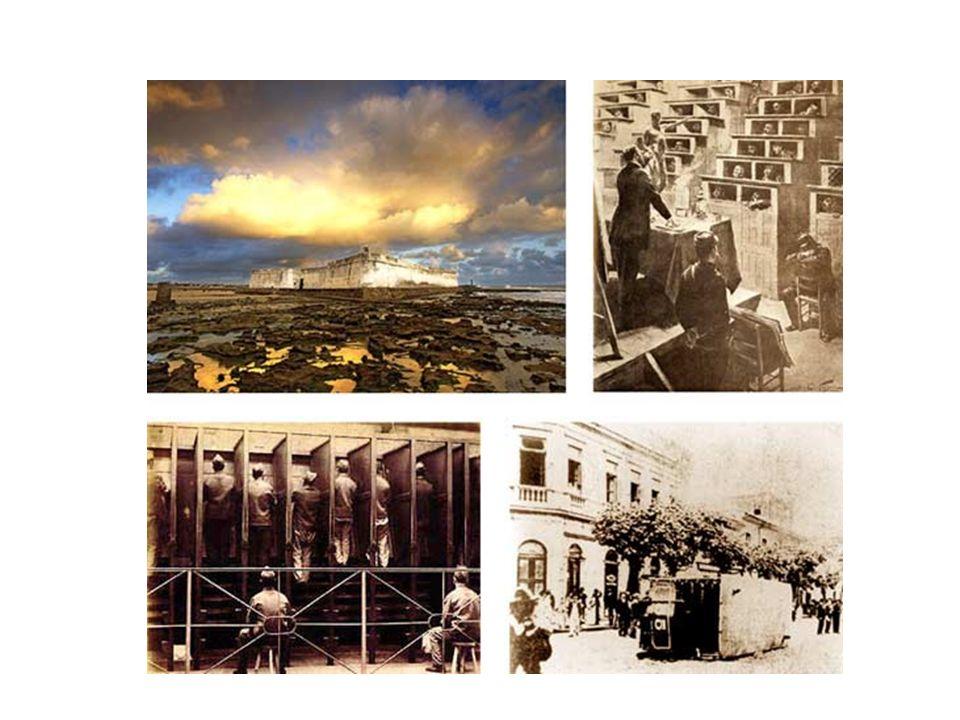 No âmbito projetual – ou do desenho –, desenvolveu-se, em primeiro lugar, uma tecnologia arquitetônica baseada nas idéias de supervisão visual e isolamento , logo aplicada na construção de hospitais, prisões, asilos, internatos, quartéis, reformatórios e, um pouco mais tarde, fábricas.