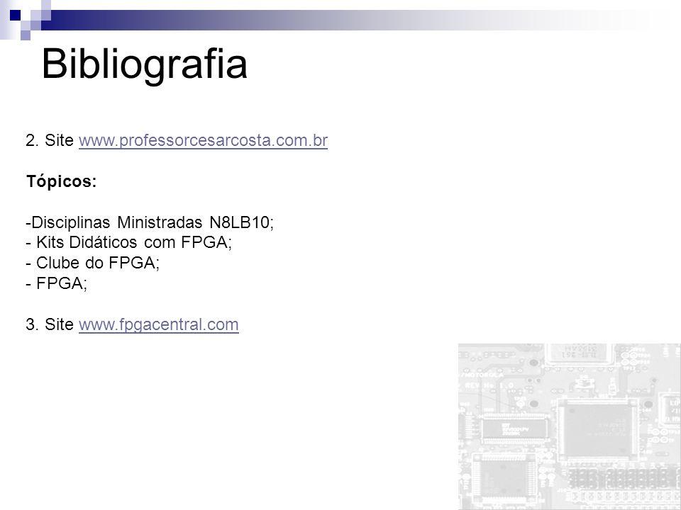 2. Site www.professorcesarcosta.com.brwww.professorcesarcosta.com.br Tópicos: -Disciplinas Ministradas N8LB10; - Kits Didáticos com FPGA; - Clube do F