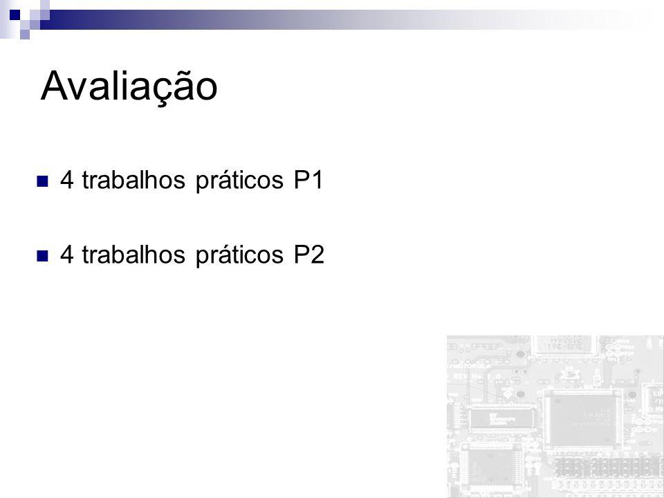 Avaliação 4 trabalhos práticos P1 4 trabalhos práticos P2