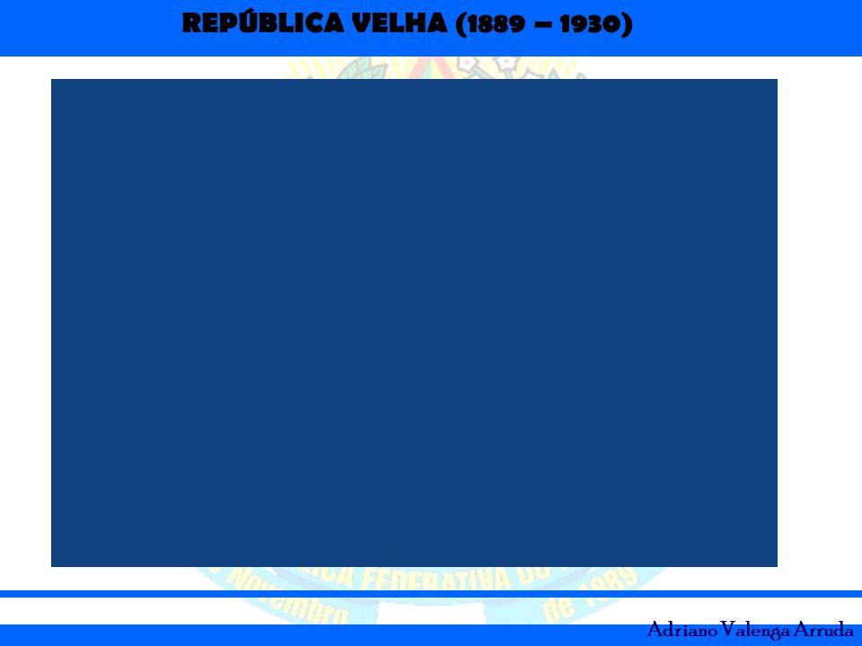 REPÚBLICA VELHA (1889 – 1930) Adriano Valenga Arruda Convênio de Taubaté (1906): –Plano de valorização artificial do café; –Governo comprava os excedentes de café e estocava.