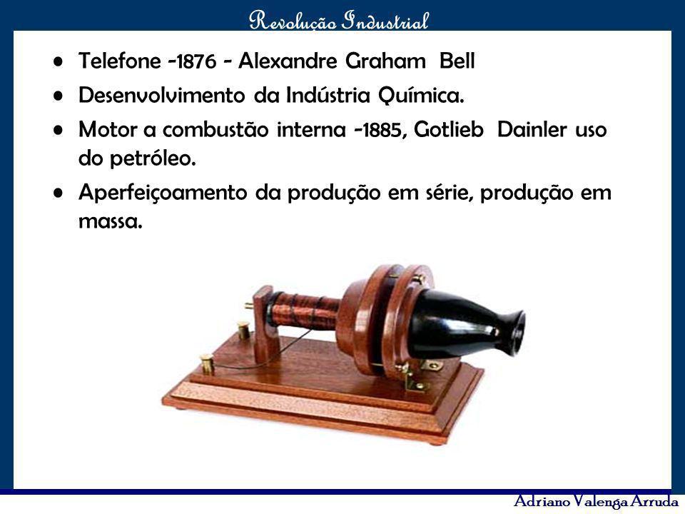O maior conflito da história Revolução Industrial Adriano Valenga Arruda Telefone -1876 - Alexandre Graham Bell Desenvolvimento da Indústria Química.