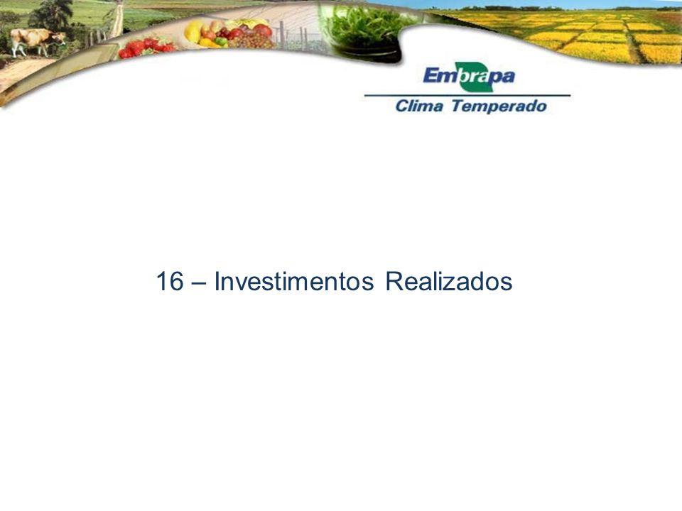 16 – Investimentos Realizados