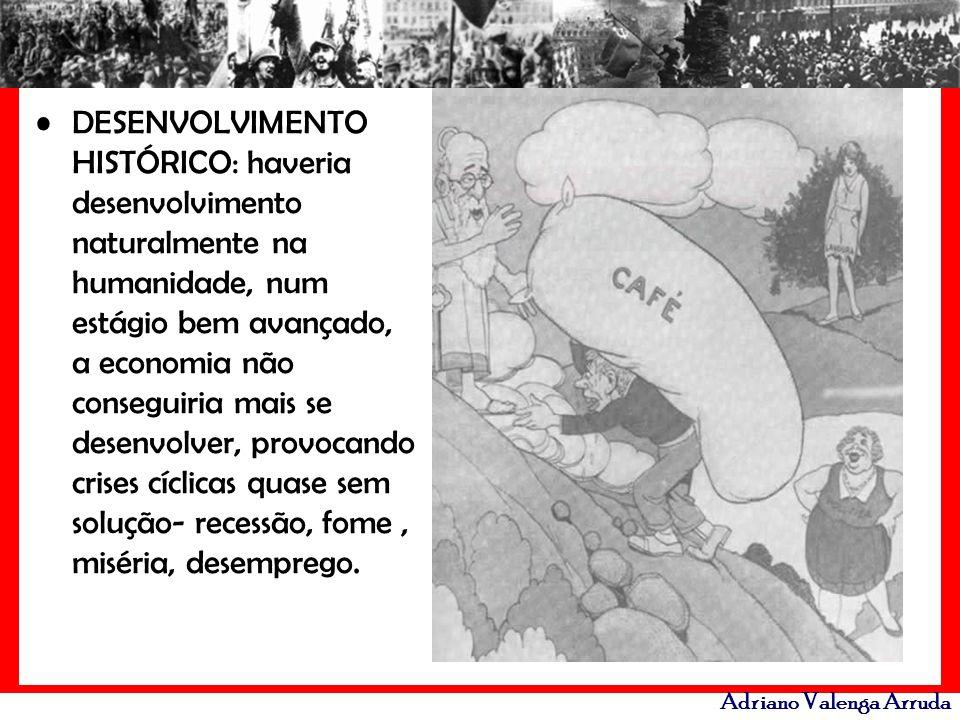Adriano Valenga Arruda DESENVOLVIMENTO HISTÓRICO: haveria desenvolvimento naturalmente na humanidade, num estágio bem avançado, a economia não consegu