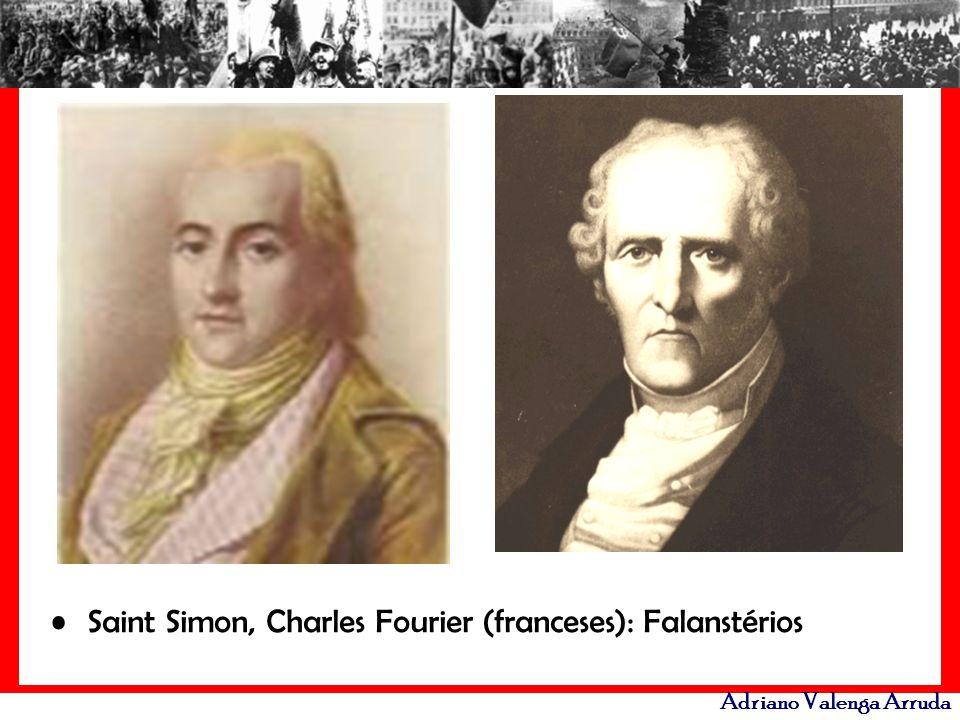 Adriano Valenga Arruda Saint Simon, Charles Fourier (franceses): Falanstérios