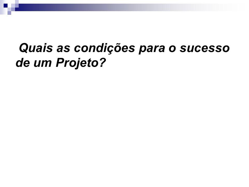 Quais as condições para o sucesso de um Projeto?