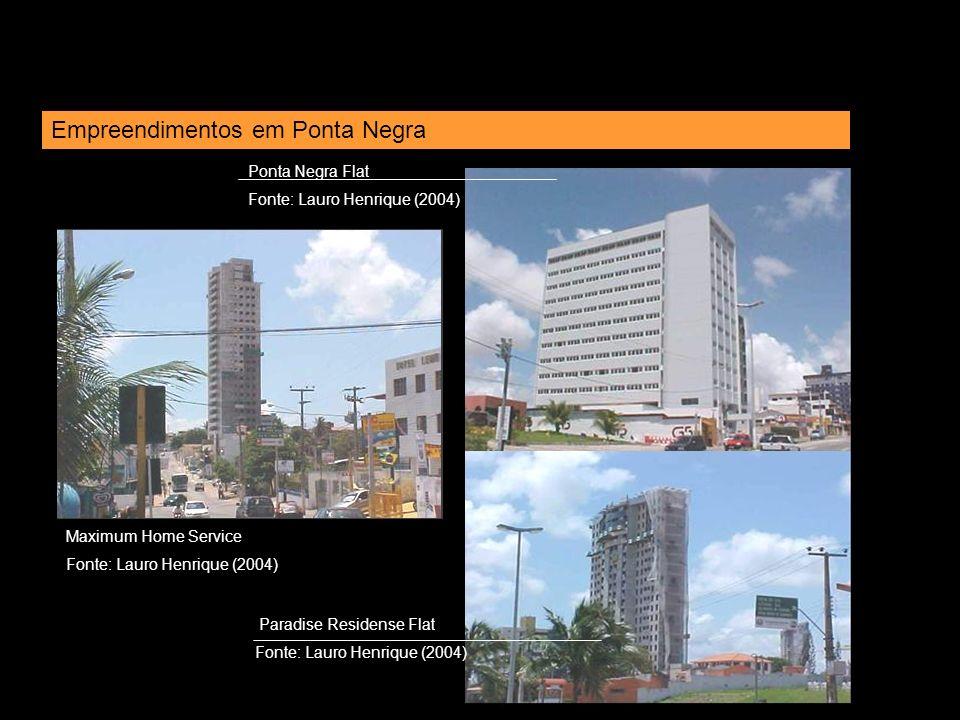 Maximum Home Service Fonte: Lauro Henrique (2004) Empreendimentos em Ponta Negra Ponta Negra Flat Fonte: Lauro Henrique (2004) Paradise Residense Flat