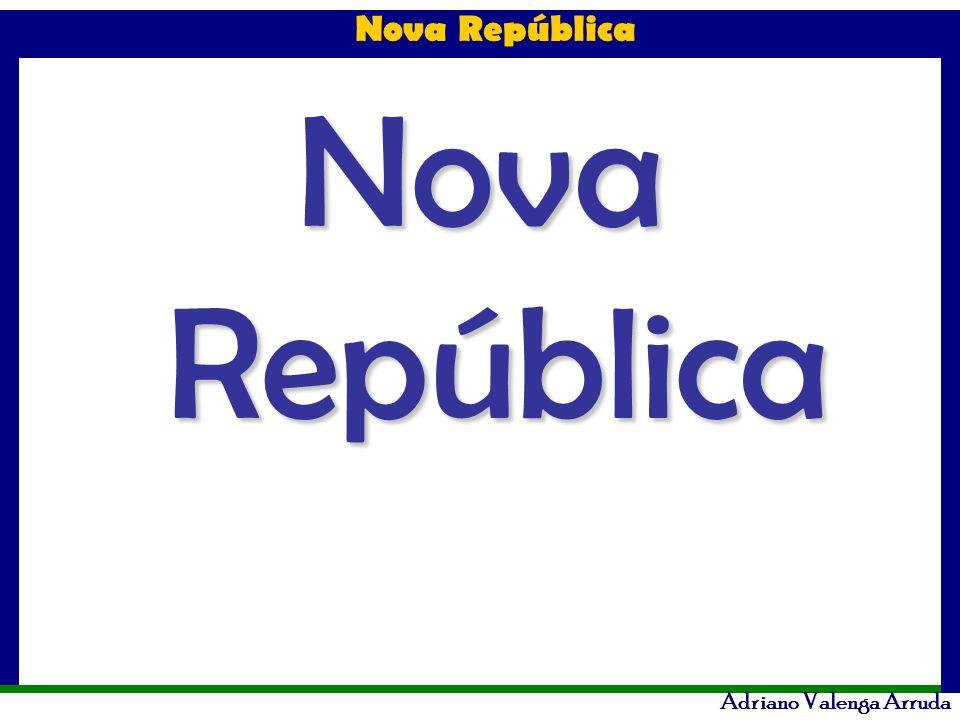 Nova República Adriano Valenga Arruda Privatizações no Governo Collor PND – Programa Nacional de Desestatização - das 68 empresas incluídas no programa, apenas 18 foram efetivamente privatizadas.