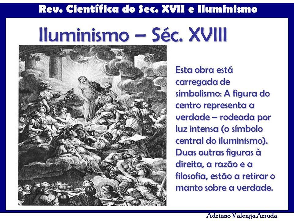 Rev. Científica do Sec. XVII e Iluminismo Adriano Valenga Arruda Iluminismo – Séc. XVIII Esta obra está carregada de simbolismo: A figura do centro re