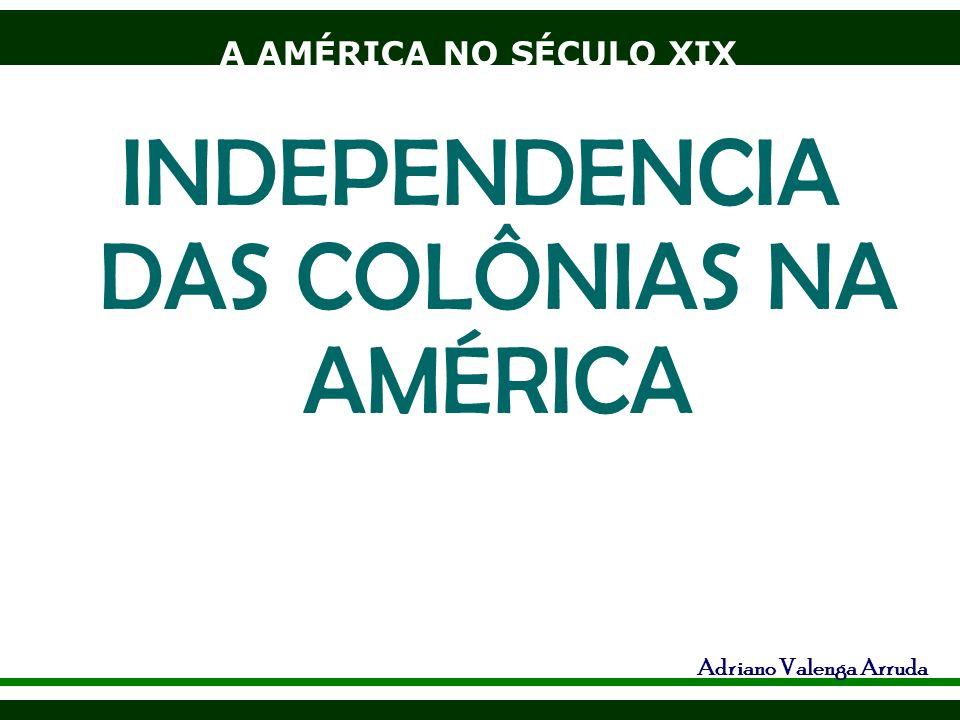 A AMÉRICA NO SÉCULO XIX Adriano Valenga Arruda INDEPENDENCIA DAS COLÔNIAS NA AMÉRICA