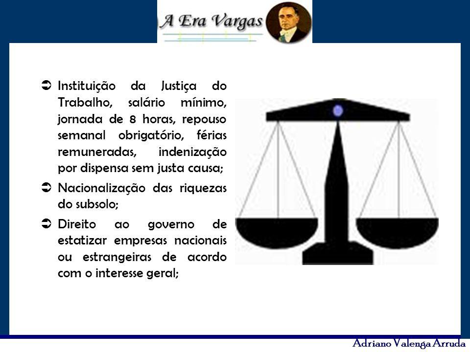 Adriano Valenga Arruda Instituição da Justiça do Trabalho, salário mínimo, jornada de 8 horas, repouso semanal obrigatório, férias remuneradas, indeni