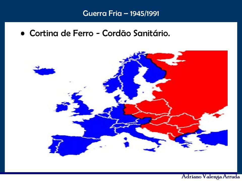 O maior conflito da história Guerra Fria – 1945/1991 Adriano Valenga Arruda Cortina de Ferro - Cordão Sanitário.