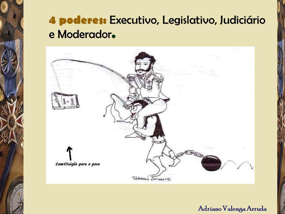 Adriano Valenga Arruda – 4 poderes: Executivo, Legislativo, Judiciário e Moderador. 4 poderes: Executivo, Legislativo, Judiciário e Moderador.